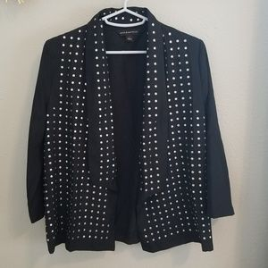 Studded Black Blazer